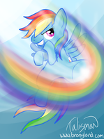 Rainbow Dash's Rainbow Kick by Mr-Talisman