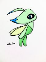 Second Colored Celebi by TheRierie