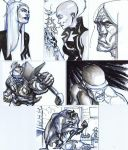 Sketch cards by bolognafingers
