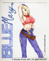 Blue Mary Pinup by BrandyWoods