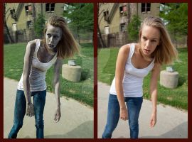 Zombie After and Before by El-Mercurio