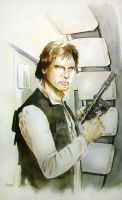 Harrison Ford as Han Solo by MikeKretz
