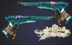 Killjoy Gun and Logo by tea-britannia
