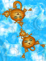 Little Tigers in the Sky by 21citrouilles