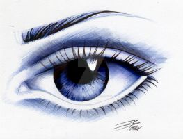 Ballpoint eye by davepinsker