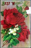 Best Wishes Roses by Yesterdays-Paper