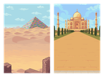 Backgrounds for a mobile game by Phoenix-849