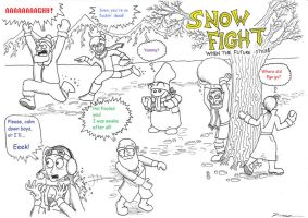 Snow Fight by 010001110101