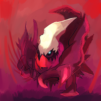 Darkrai Used Shadow Claw by LizardonEievui13