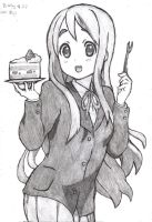 K-On! Cake time Mugi-chan by Brian12