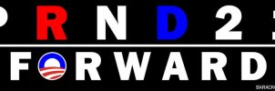 Moving Forward With Obama Bumper Sticker by OffDWallNotDRack
