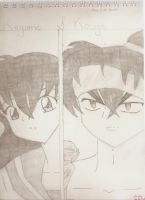 Kouga and Kagome by Banfan45