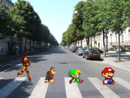 Nintendo Abbey Road by SNStudios