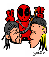Deadpool, Jay and Silent Bob by BouncieD