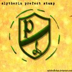 Slytherin Prefect stamp by xylofonflickan