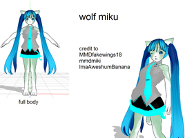 mmd wolf miku by FBandCC