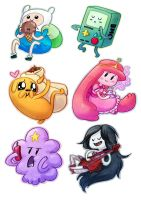 Adventure Time Chibis by ButtercupBabyPPG