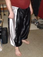 Black and Silver Harem Pants by RedFeatherFalconHawk
