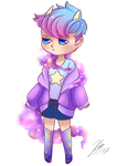 Galaxy Demon boi chibi Adoptable CLOSED by DevilishSchokokeks