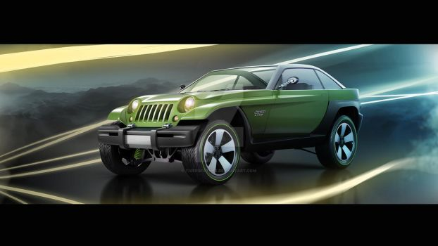 1998 Jeep Jeepster concept style by Tigersfather