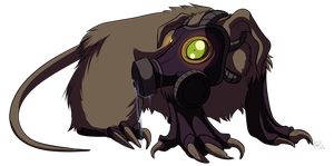 Gas Mask by Rodent-blood