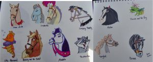 Disney Princess Horses by happyeverafter