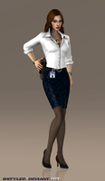 FBI Special Agent Kaila Yang (XPS Re-updated 4) by bstylez
