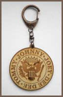 RAMONES - wood keyring by Piciuu