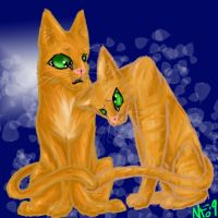 Fireheart X Sandstorm by Lucky-Puppy