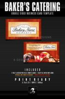Baker's Catering Business Card Template by AnotherBcreation