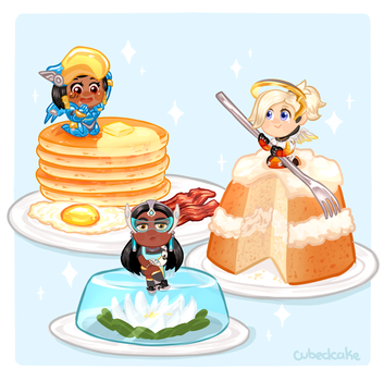 Overwatch Food Set - Piece of Cake by CubedCake