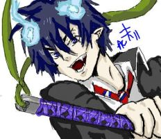 Ao No Exorcist- Okumura Rin by baberscamille