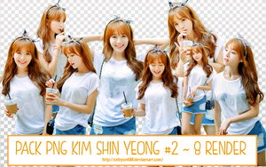 PACK PNG KIM SHIN YEONG #2 - 8 RENDER by CeByun688