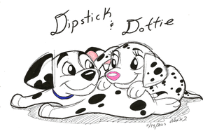 Baby Dogs-Dipstick and Dottie by Stray-Sketches