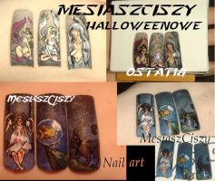 Ostatki halloween    nail art tutorial in my yt by MesiaszCiszy