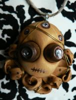 Weird Wired Octopus Charm by BlackMagdalena