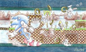 Green hill Zone by NENIKAT