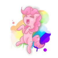 Pinkie Pie - Go Party in the Rainbows by InYourFridge