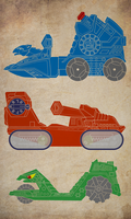 Masters of the Universe Vehicles by payno0