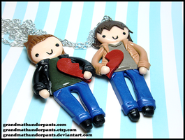 Sam + Dean BFF Set by GrandmaThunderpants