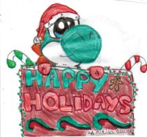 happy holidays from yoshi by superfoxmccloud