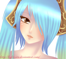 Sona Portrait ( League of Legends ) by Hyldenia