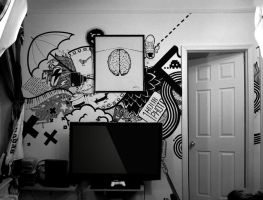Sharpie wall by THReez