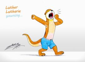 Luther Lutharie yawing by SAGADreams