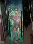 ROBIN coloured 1966 SKATEBOARD DECK completed deck by ztenzila