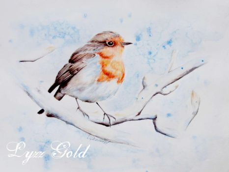 Winter Bird by ArtGoldArt