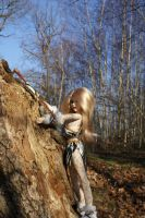 Climbing on the trees by beedoll