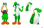 Politeboy's yoshi costume tf :req: by Theseekingtiger