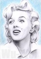 Marilyn Monroe mini-portrait by whu-wei