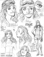 Rough character designs for SSX's Eddie (4 of 5) by AdamWarren